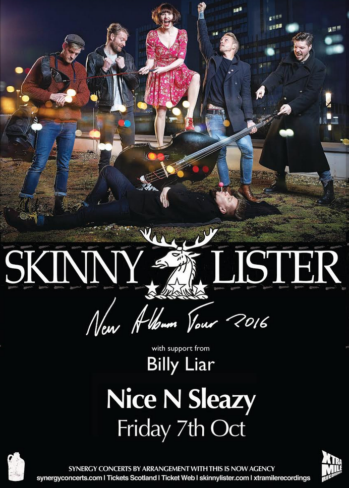 Synergy Concerts Presents : Skinny Lister + Billy Liar