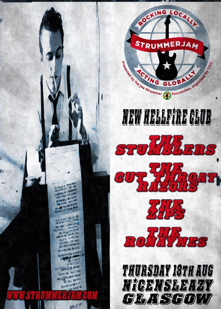NHC Presents : StrummerJam w/ The Stumblers + The Zips + The Cut Throat Razors + The Ronaynes