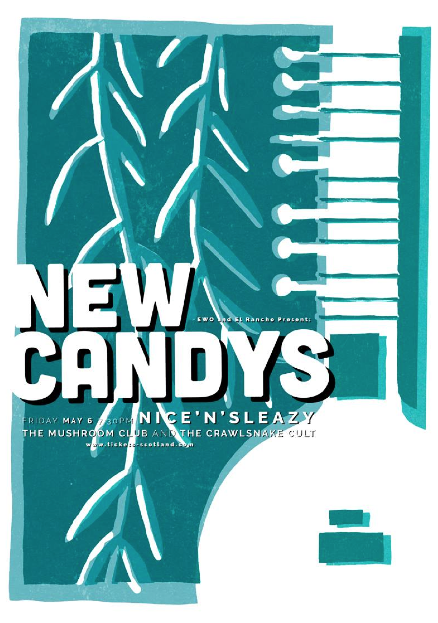 EWO & El Rancho Presents : New Candys + The Mushroom Club + The Crawlsnake Cult