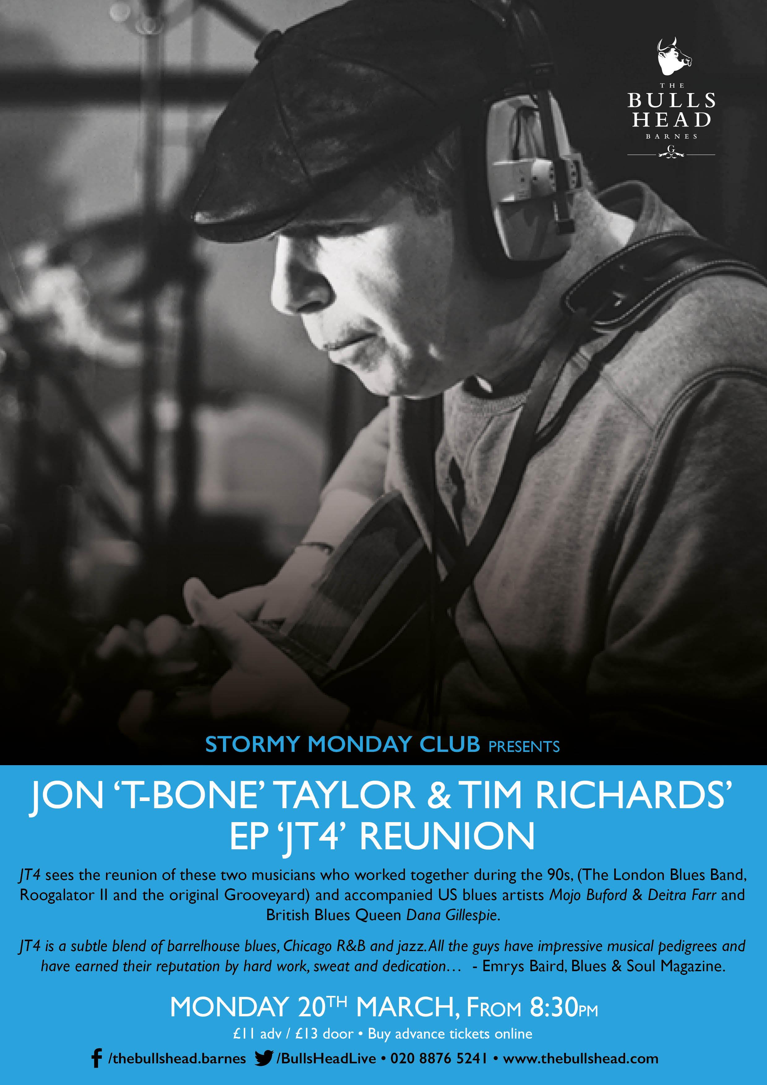 Jon 'T Bone' Taylor and Tim Richard's Reunion EP 'JT4'