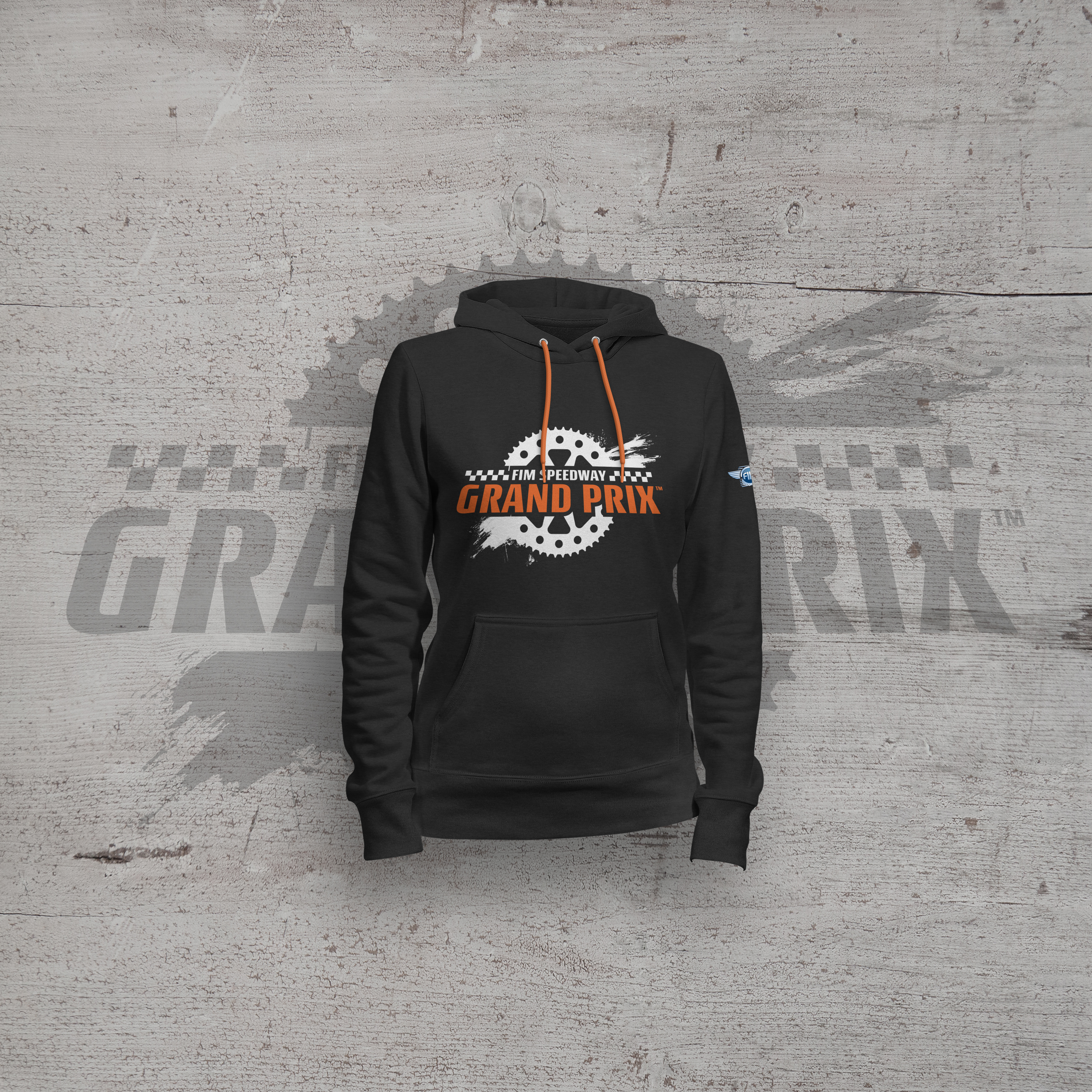 Sprocket Hoodie (Black) - Speedway GP