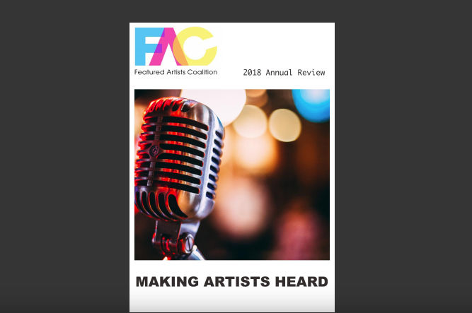 FAC Annual Review 2018 - Featured Artists Coalition