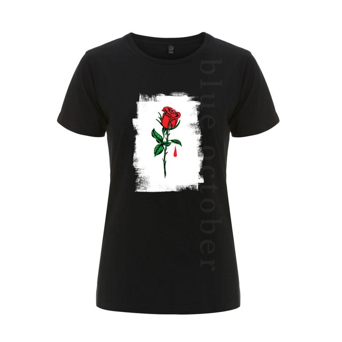 Rose Drip – Ladies Tee - Blue October