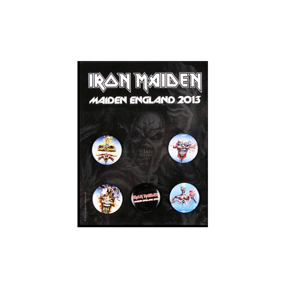 Maiden England 2013 Tour Button Set - Iron Maiden [Global USA]