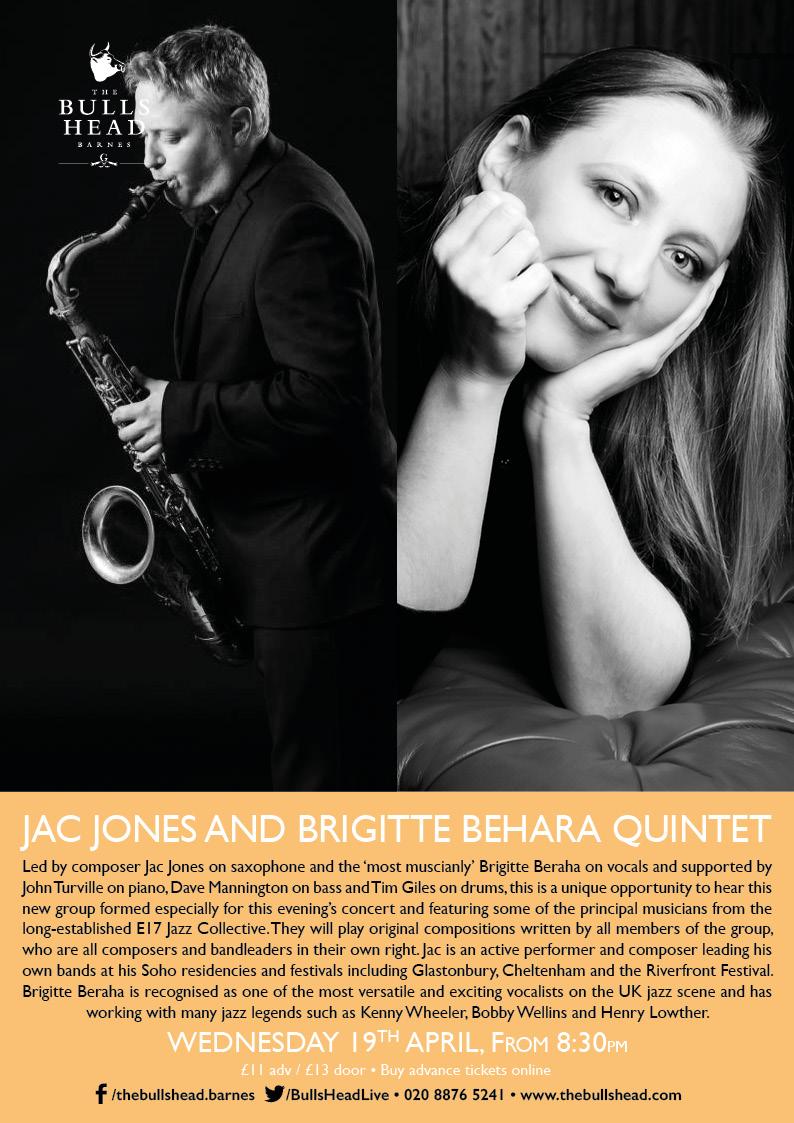 Jac Jones and Brigitte Beraha Quintet