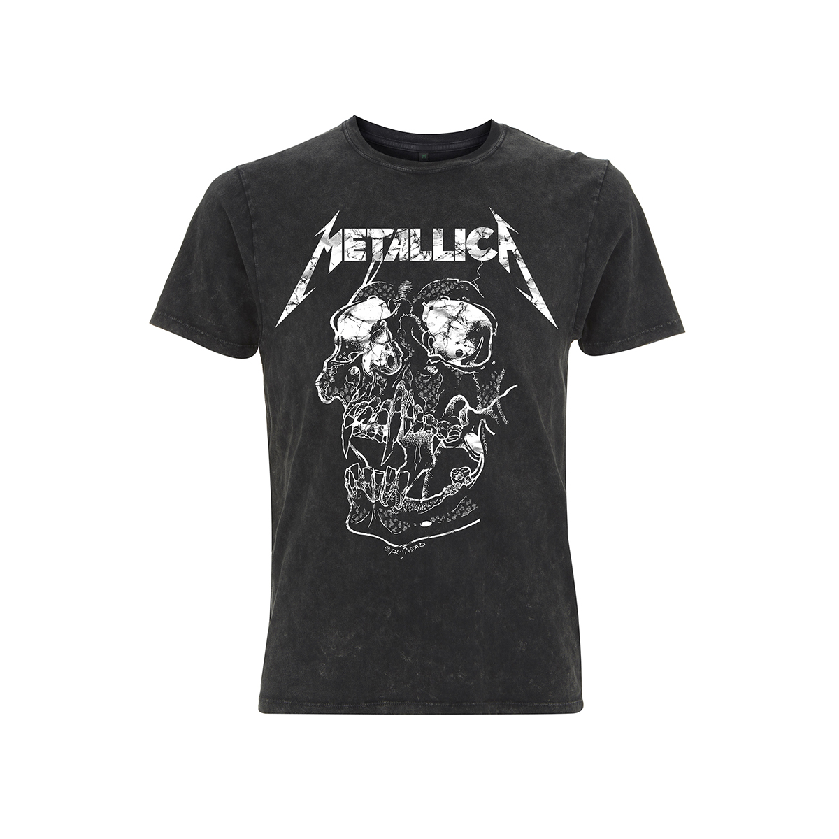 Shortest Straw – Acid Wash Black Tee - Metallica