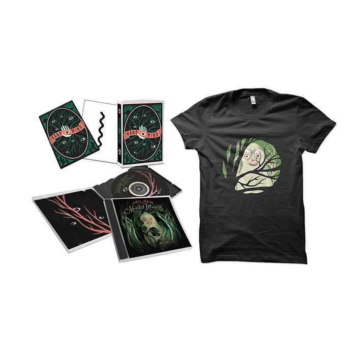 Aimee Mann Mental Illness CD + T-Shirt + Limited Edition Psychological Art therapy Cards Bundle - Aimee Mann