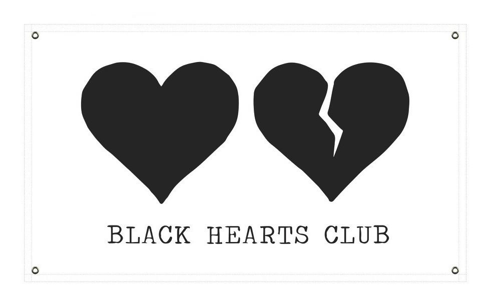 Black Hearts Club Flag - YUNGBLUDUSA