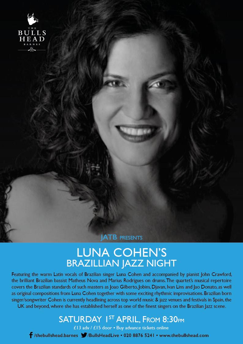 JATB Presents: Luna Cohen's Brazilian Jazz Night