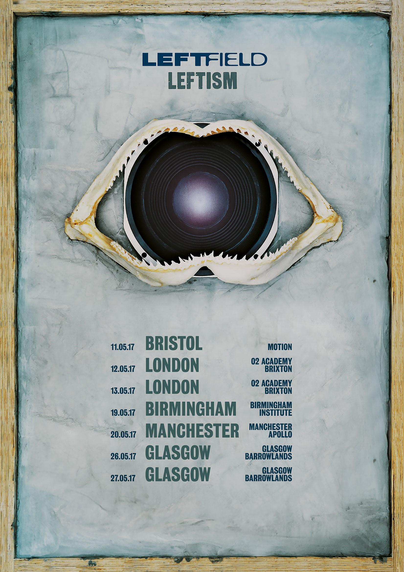 Leftism Tour – A2 LTD EDITION Numbered Litho Print - Leftfield