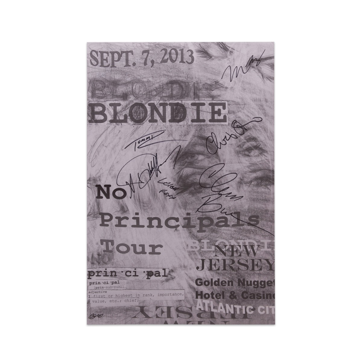 SIGNED ATLANTIC CITY NO PRINCIPALS TOUR POSTER - BlondieUS