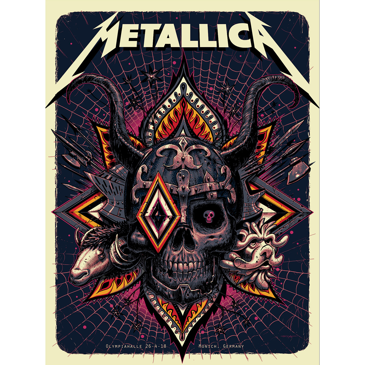 Munich April 26th – Limited Edition Numbered Screen Printed Event Poster - Metallica