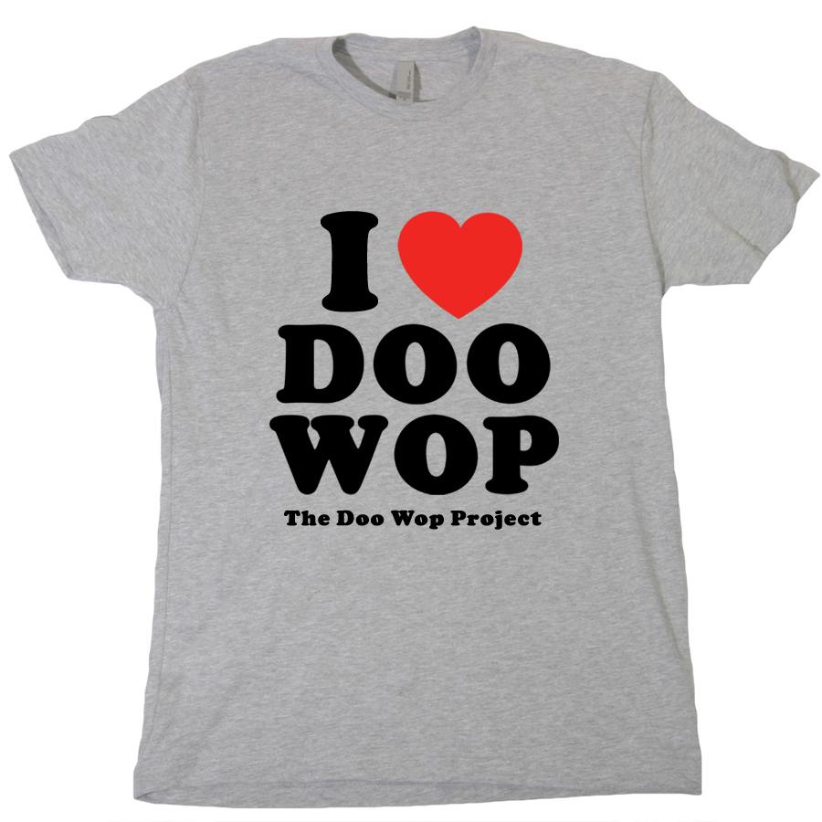 I Heart Doo Wop grey tee - The Doo Wop Project