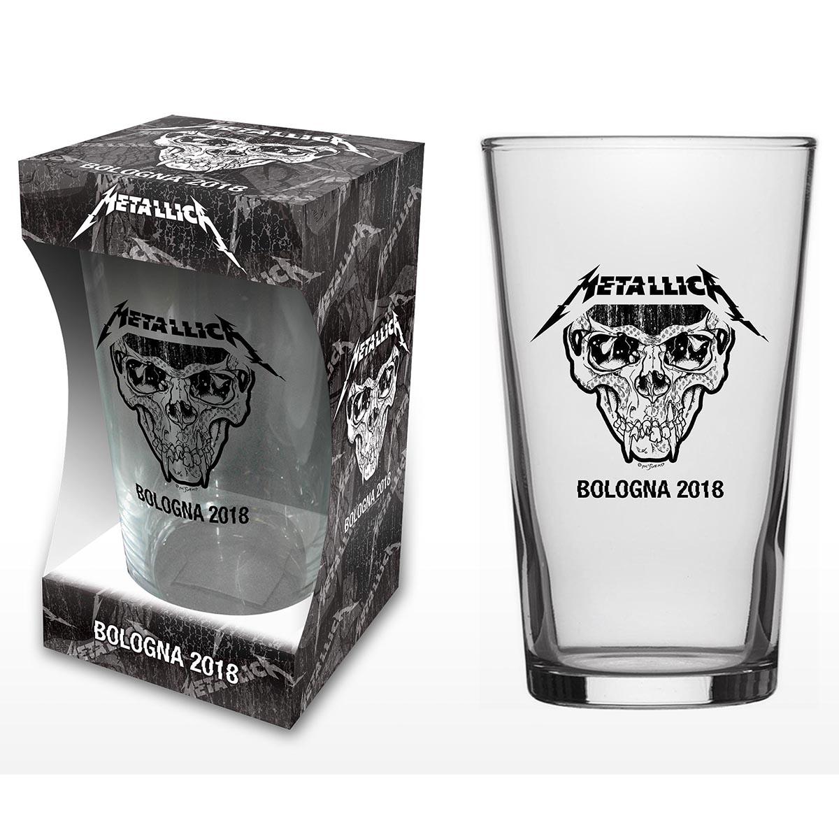 Bologna – Pint Glass - Metallica