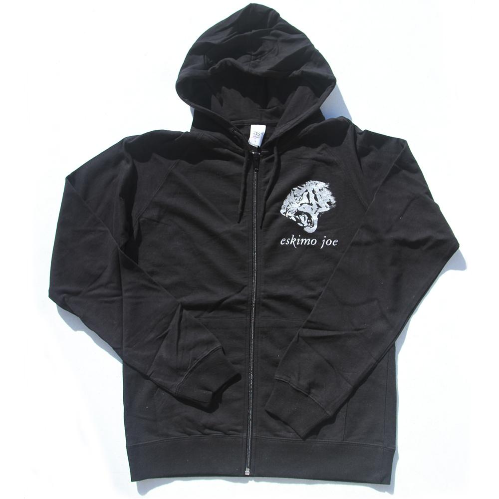 Silver Tiger - Black Hoodie - Eskimo Joe