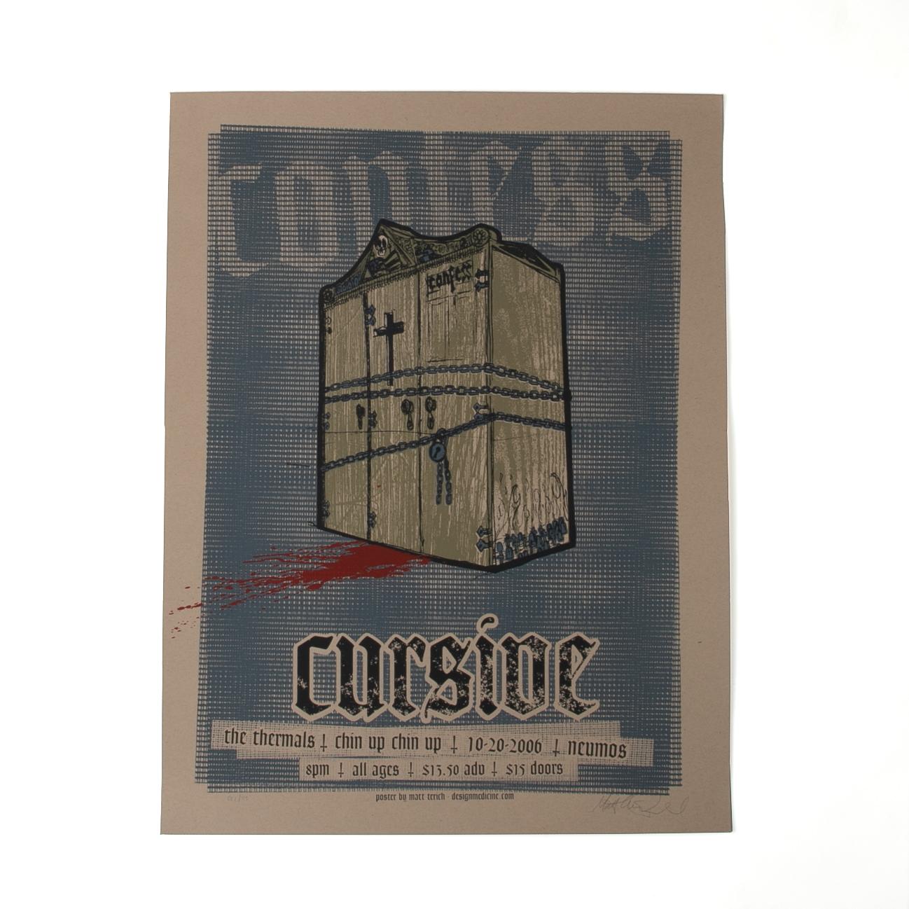 Cursive Poster - Neumos 10/20/06 - Cursive