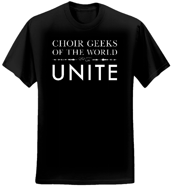 Choir Geeks of the World Unite T-shirt (Women/Black) - Eric Whitacre