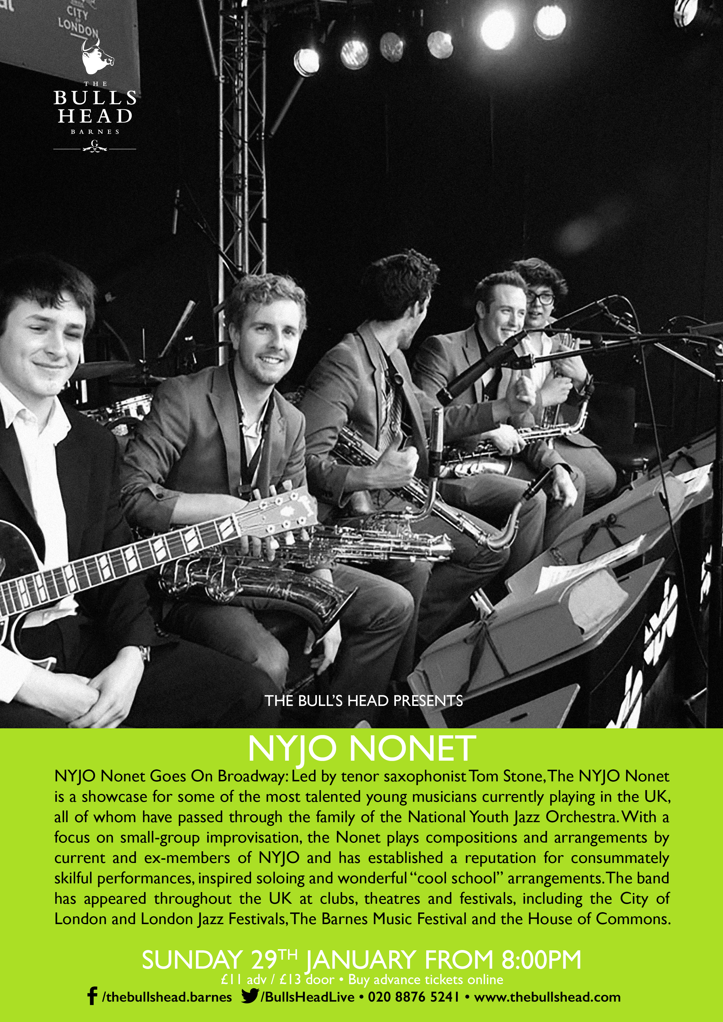 NYJO Nonet Goes On Broadway