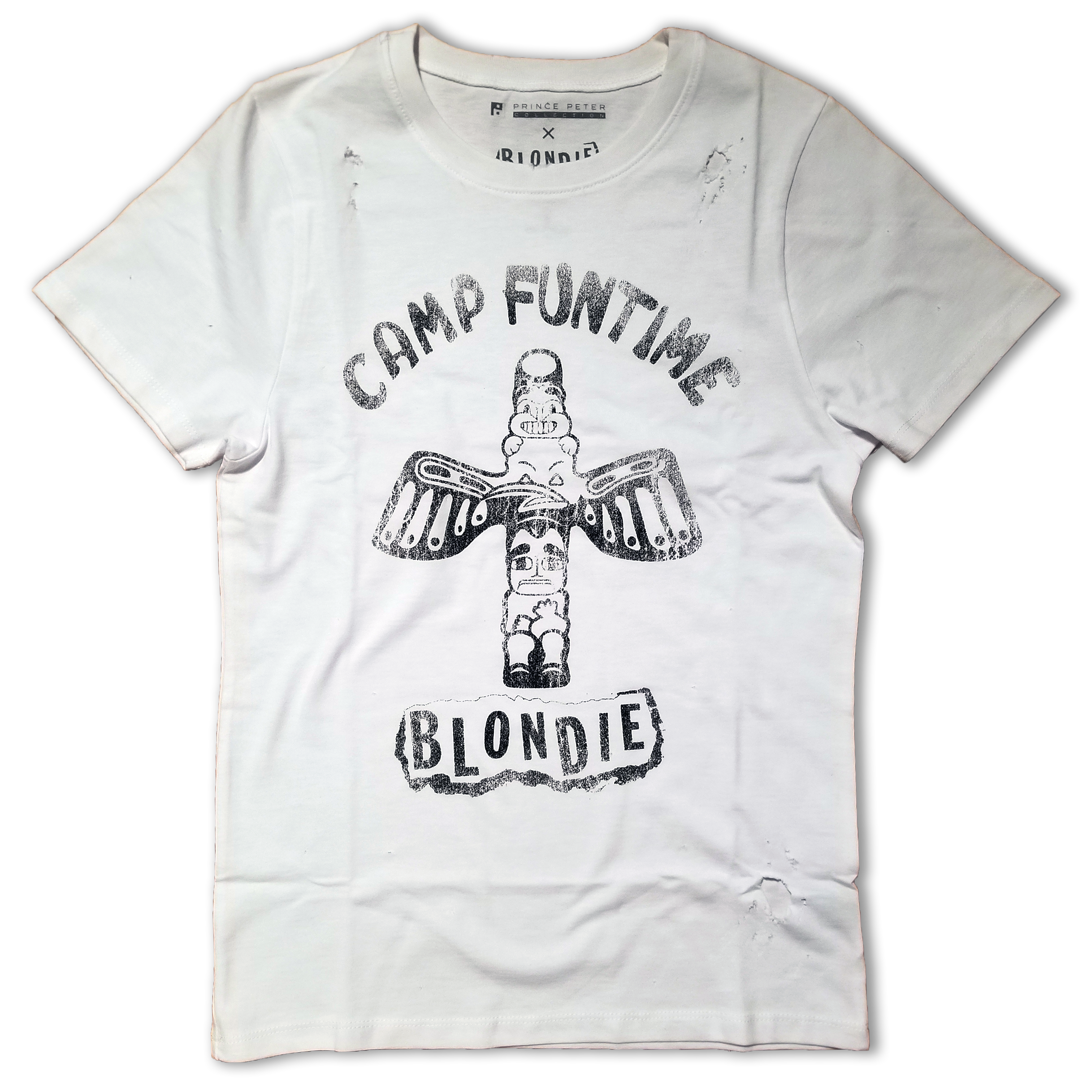 TATTERED CAMP FUNTIME TEE - BlondieUS