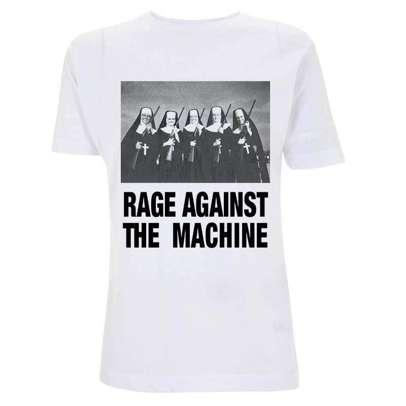 Nuns And Guns – White Tee - Rage Against the Machine