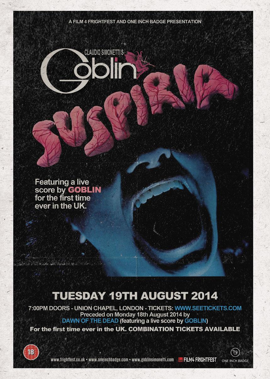 Suspiria (Ft Live Score By Goblin)