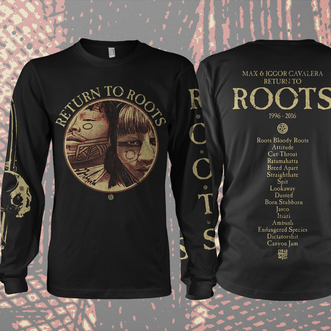 Return to Roots - 'Tracks' Longsleeve T-Shirt - Soulfly
