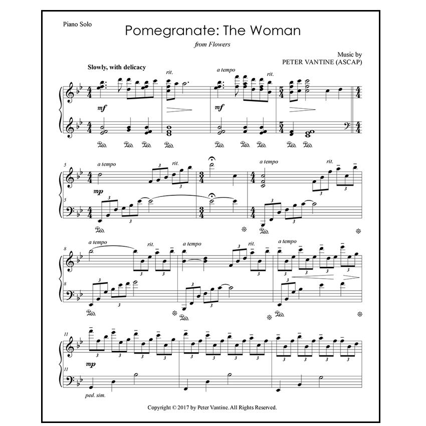 Pomegranate: The Woman (sheet music download) - Peter Vantine