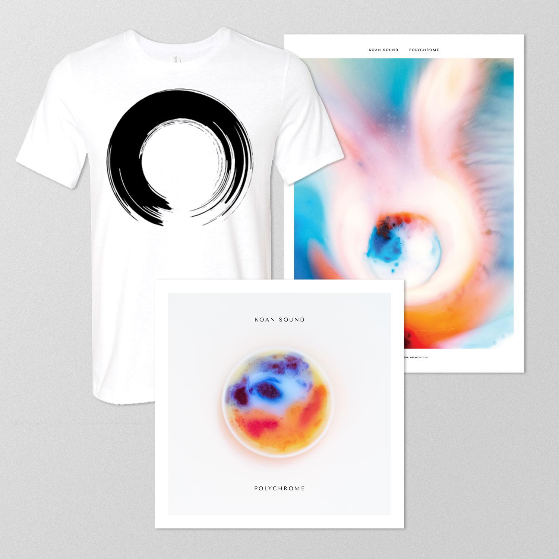 Polychrome Double LP + 'Enso' T-Shirt + Poster - KOAN Sound USD