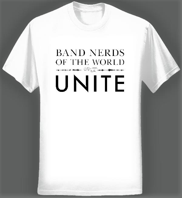 Band Nerds of the World Unite T-shirt (Men/White) - Eric Whitacre