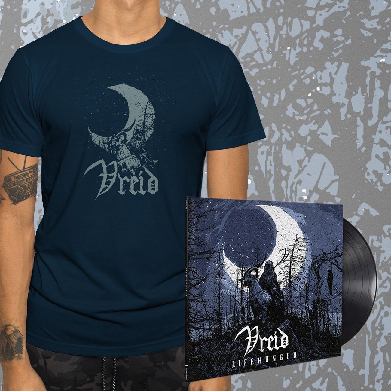 Vreid - 'Lifehunger' Black Vinyl and T-Shirt Bundle - Vreid
