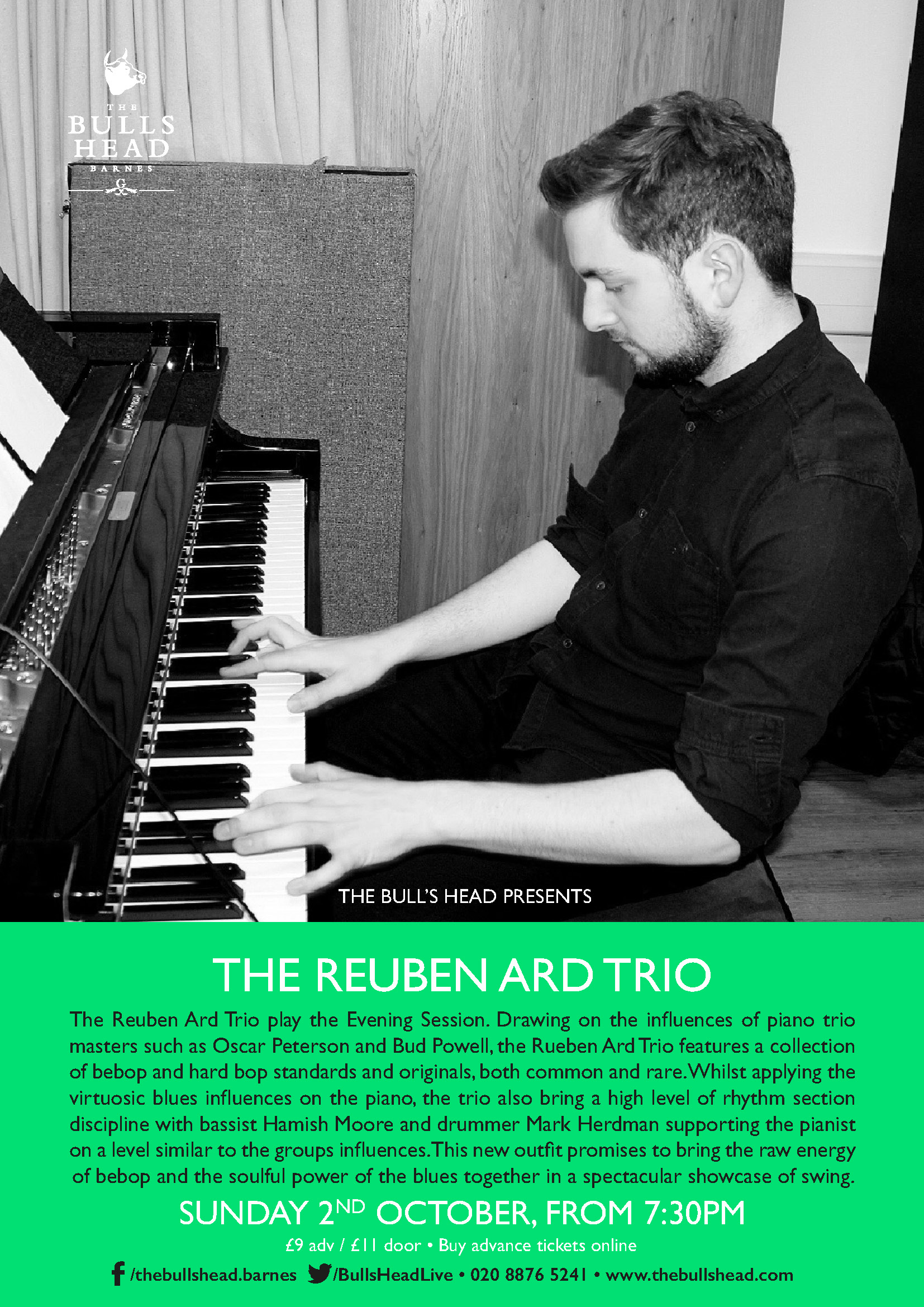 The Reuben Ard Trio play the Evening Session