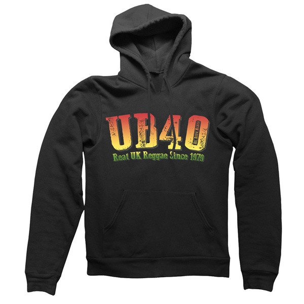 Black Reggae Pullover Hoody - UB40