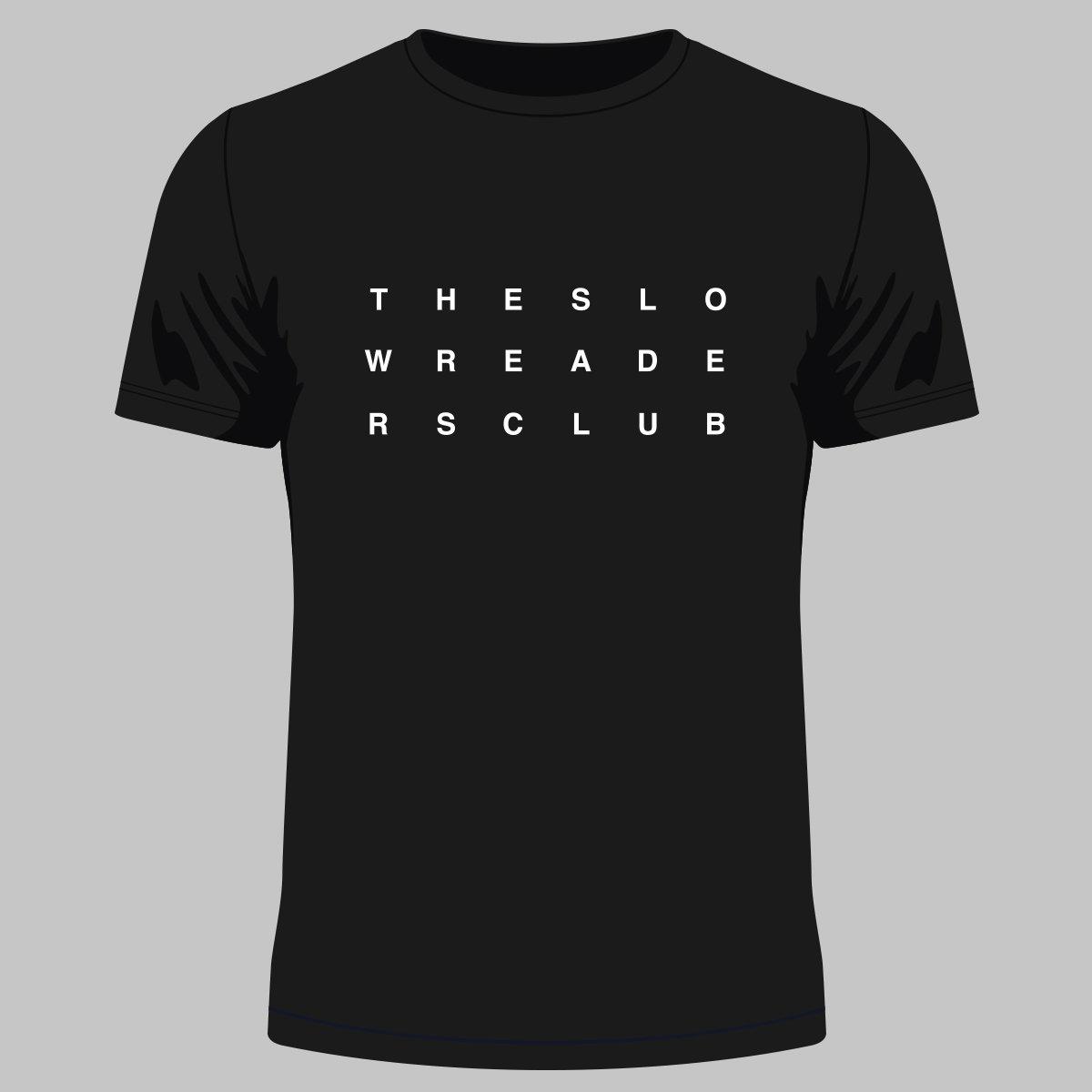 Mono Logo T-Shirt - Black - The Slow Readers Club
