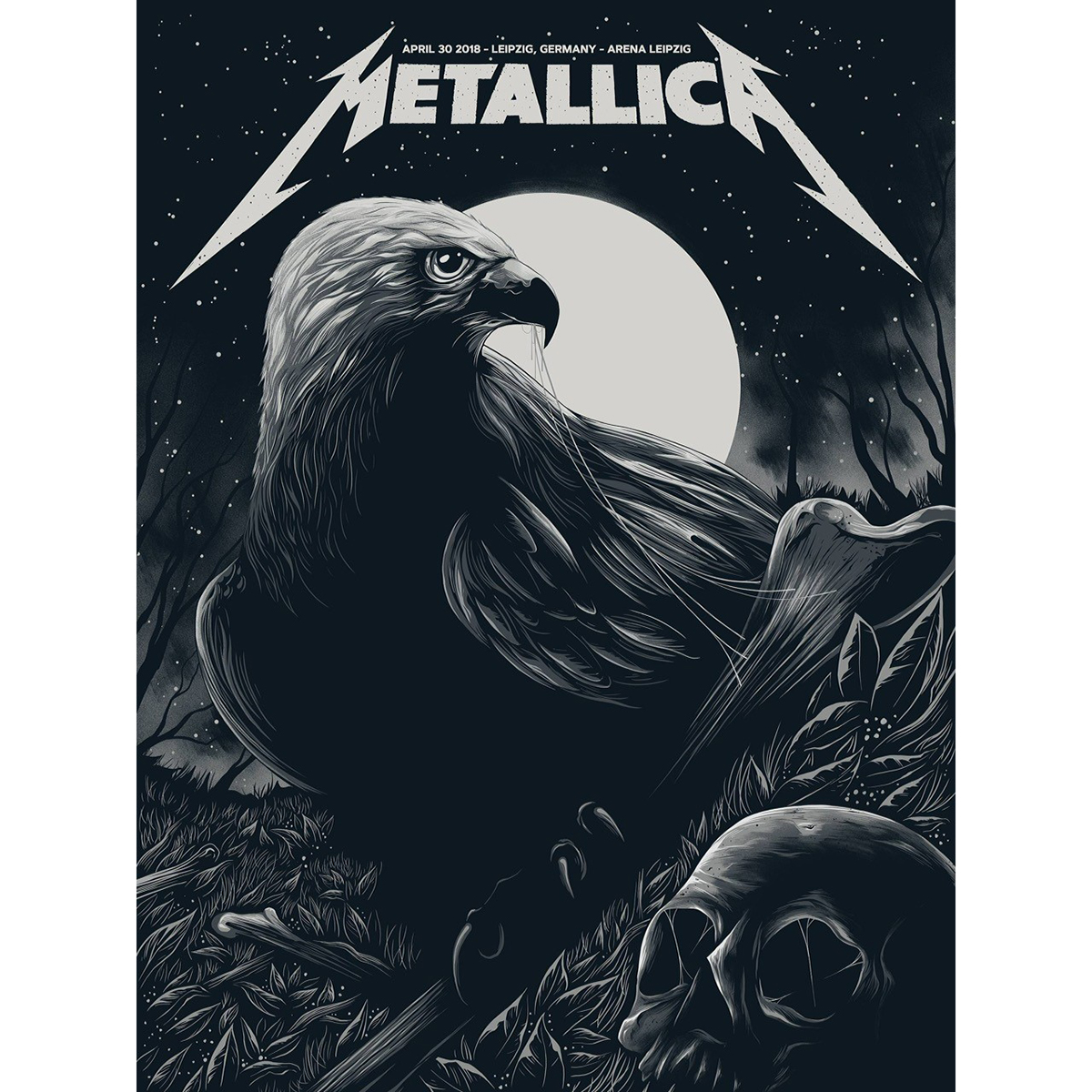 Leipzig April 30th – Limited Edition Numbered Screen Printed Event Poster - Metallica