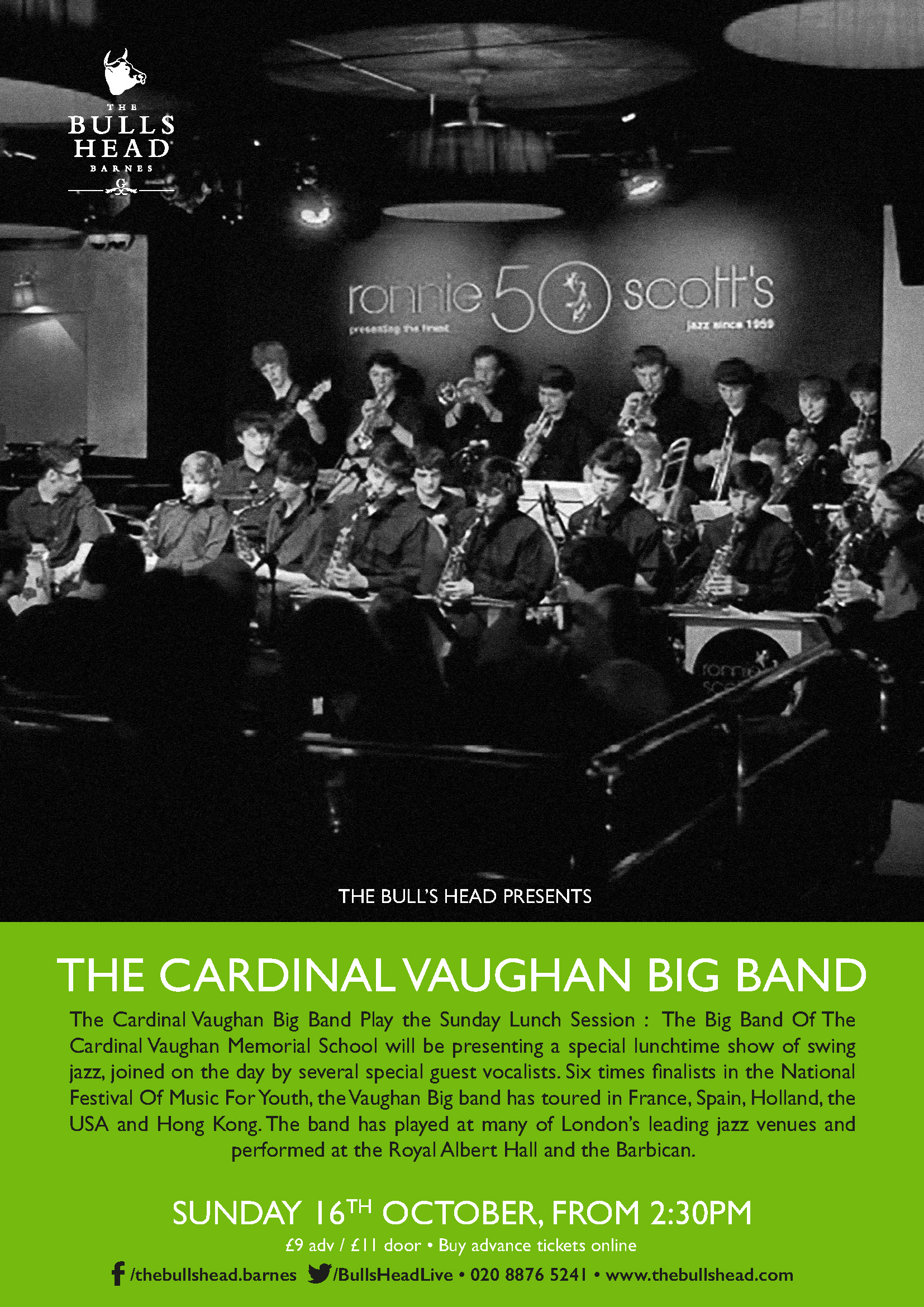 The Cardinal Vaughan Big Band Play the Sunday Lunch Session
