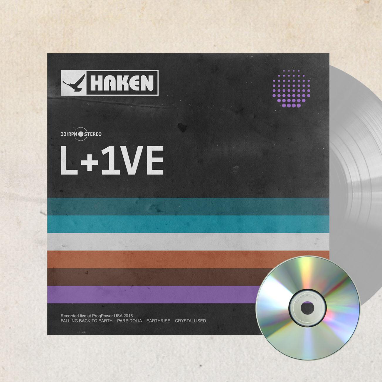 Haken - 'L+1VE' *EXCLUSIVE* Silver Vinyl LP + CD - Haken