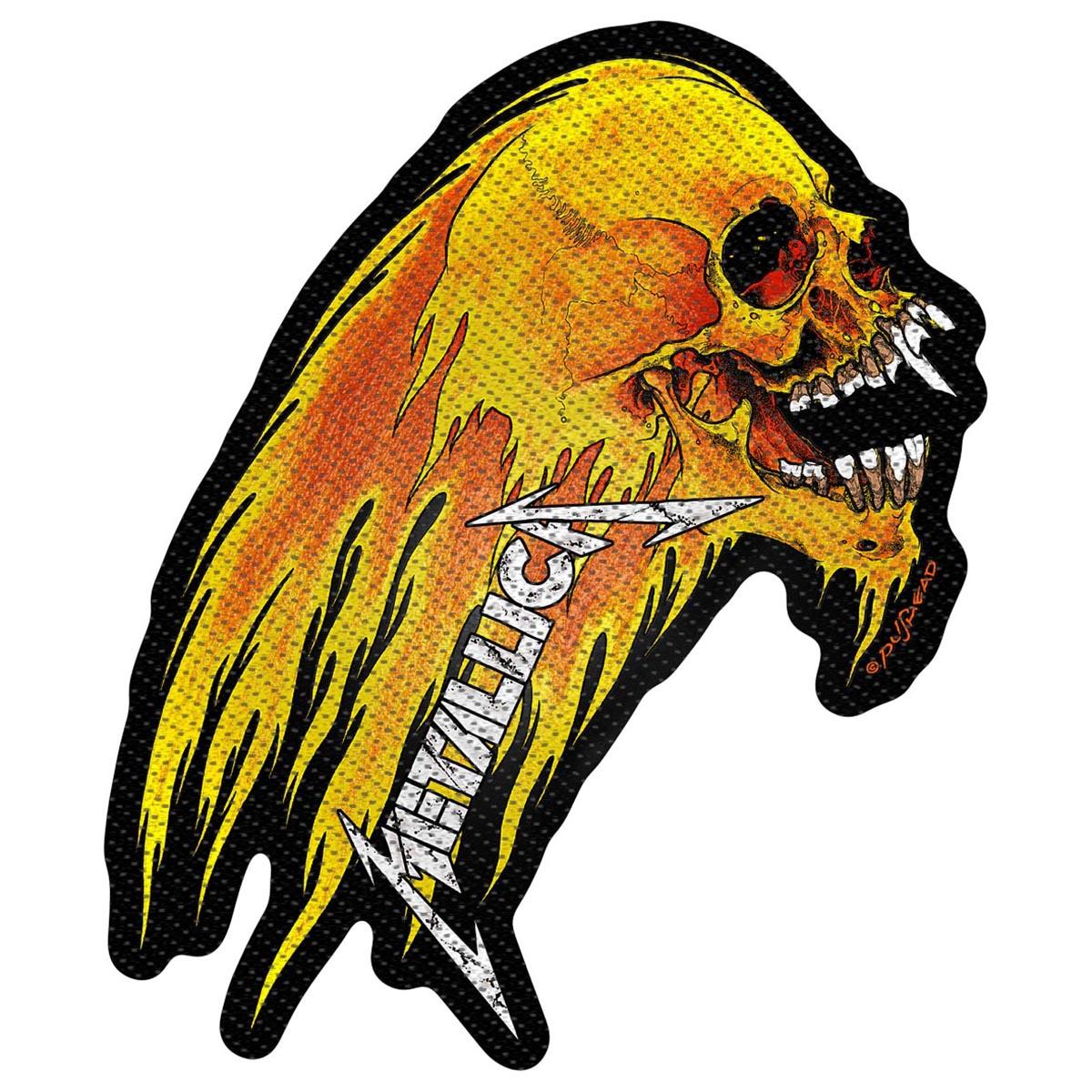 Flaming Skull – Die Cut Woven Patch - Metallica