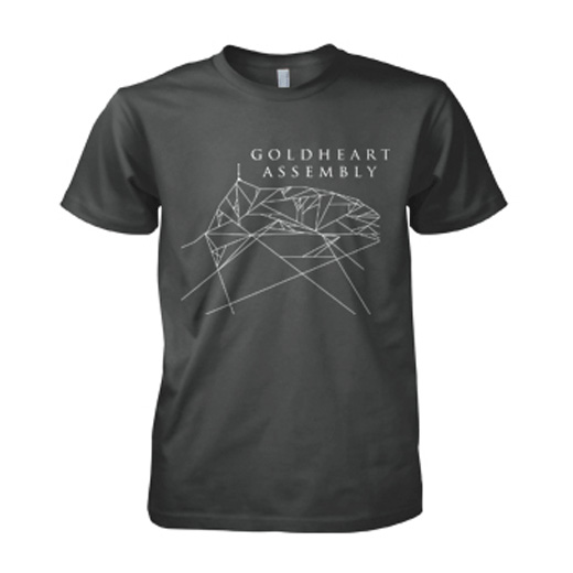 Goldheart Assembly LDSE Mens Charcoal tee (T-Shirt) - LGM Records