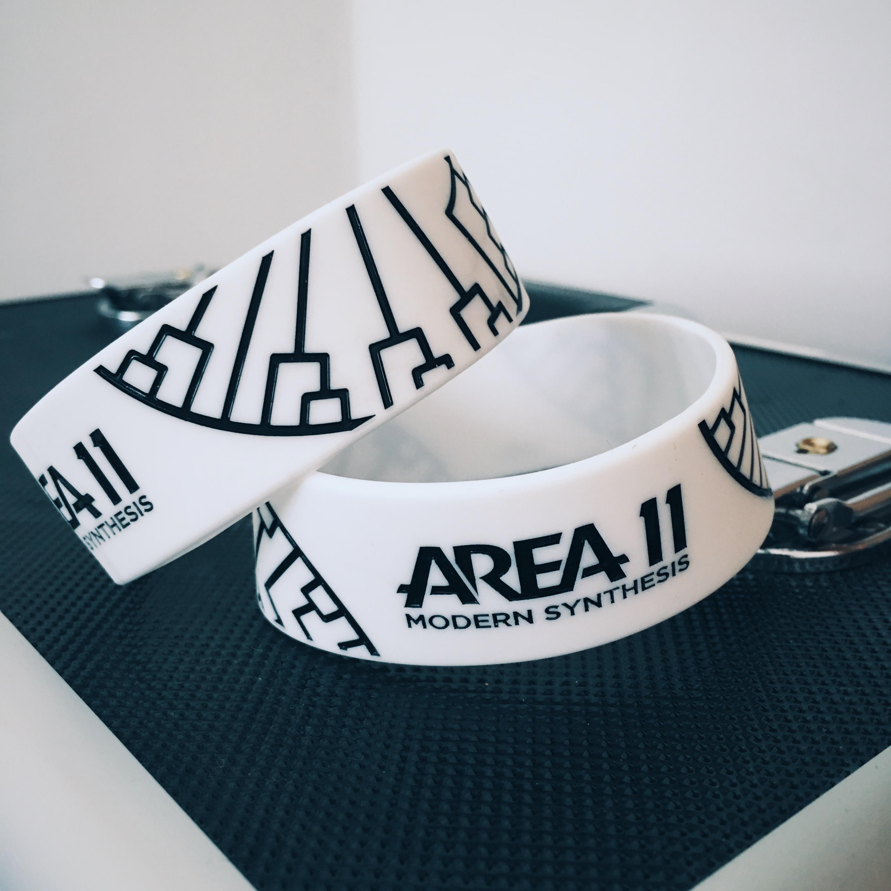 Modern Synthesis Wristband - White - Area 11