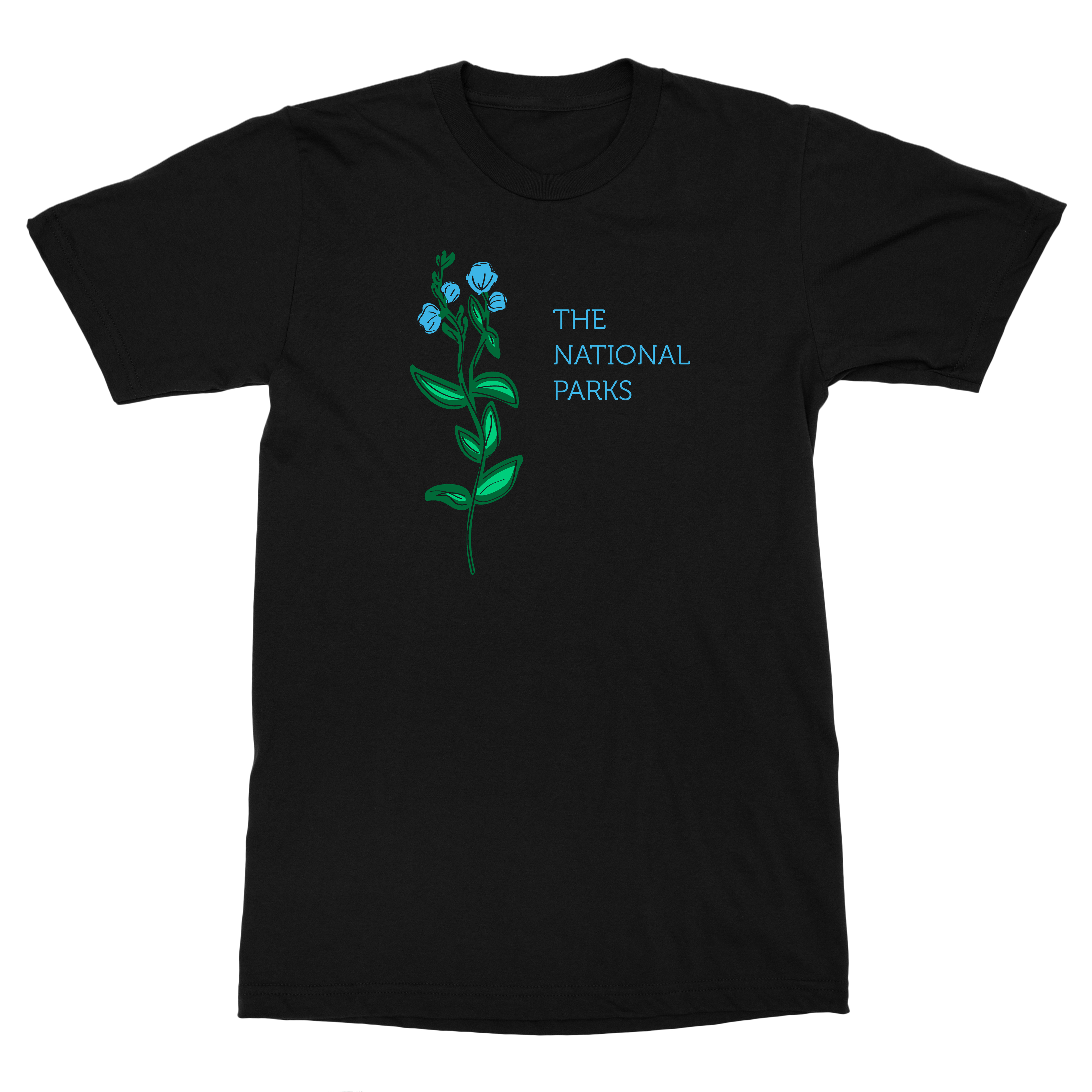 Flowers- Black Tee - The National Parks