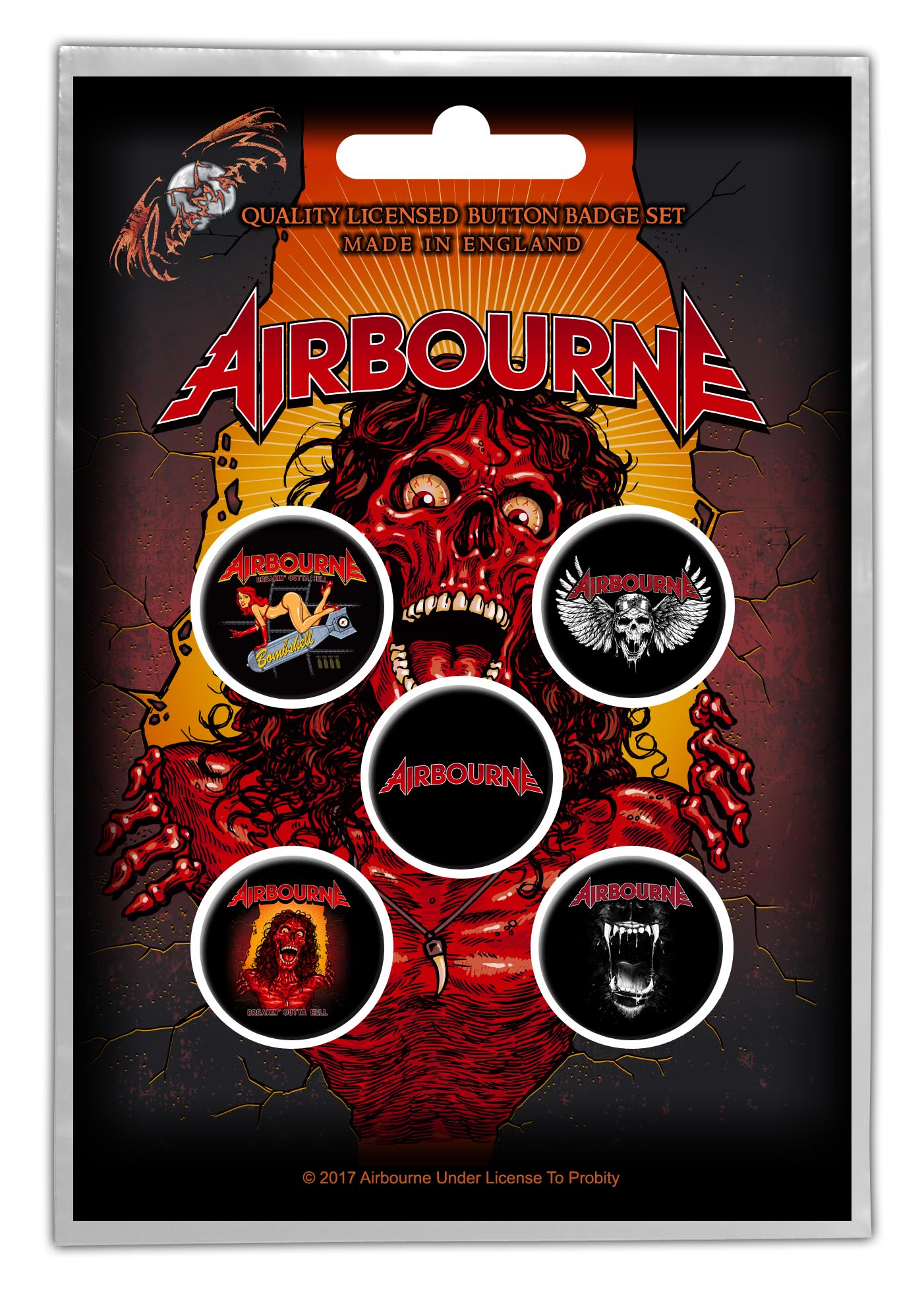 Airbourne - Pack of 5 Button Badges - Airbourne