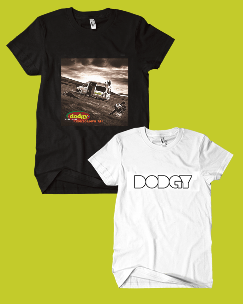 Bundle package of the  Dodgy Homegrown t-shirt and logo t-shirt in white - Dodgy