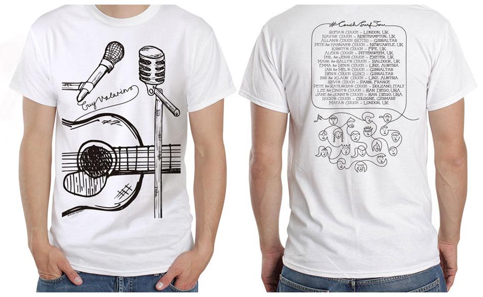Couch Surf Tour - T-shirt - [unisex] - Guy Valarino