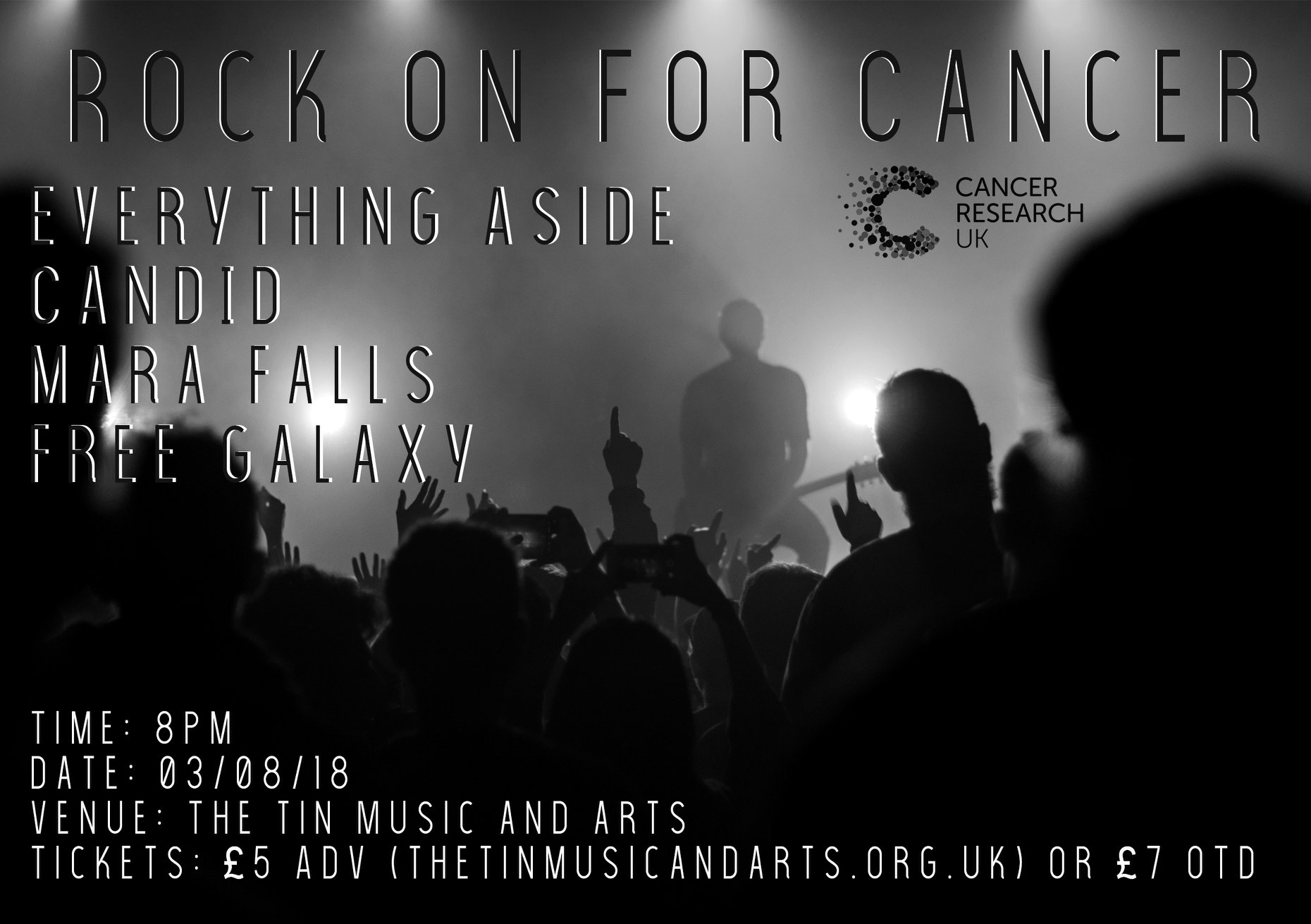 Rock On For Cance @ Tin Angel Coal Vaults, Coventry - 03th August 2018