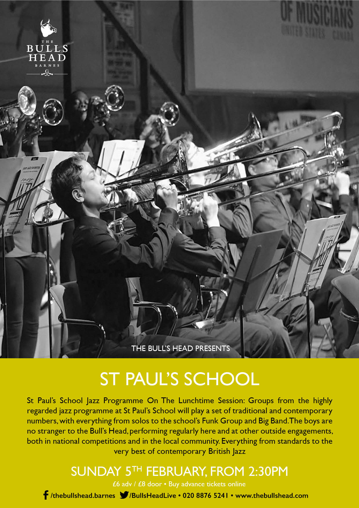 St Paul's School Jazz Programme On The Lunchtime Session
