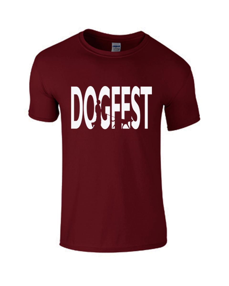 Dogfest Dogwalker Maroon Tee - Dogfest