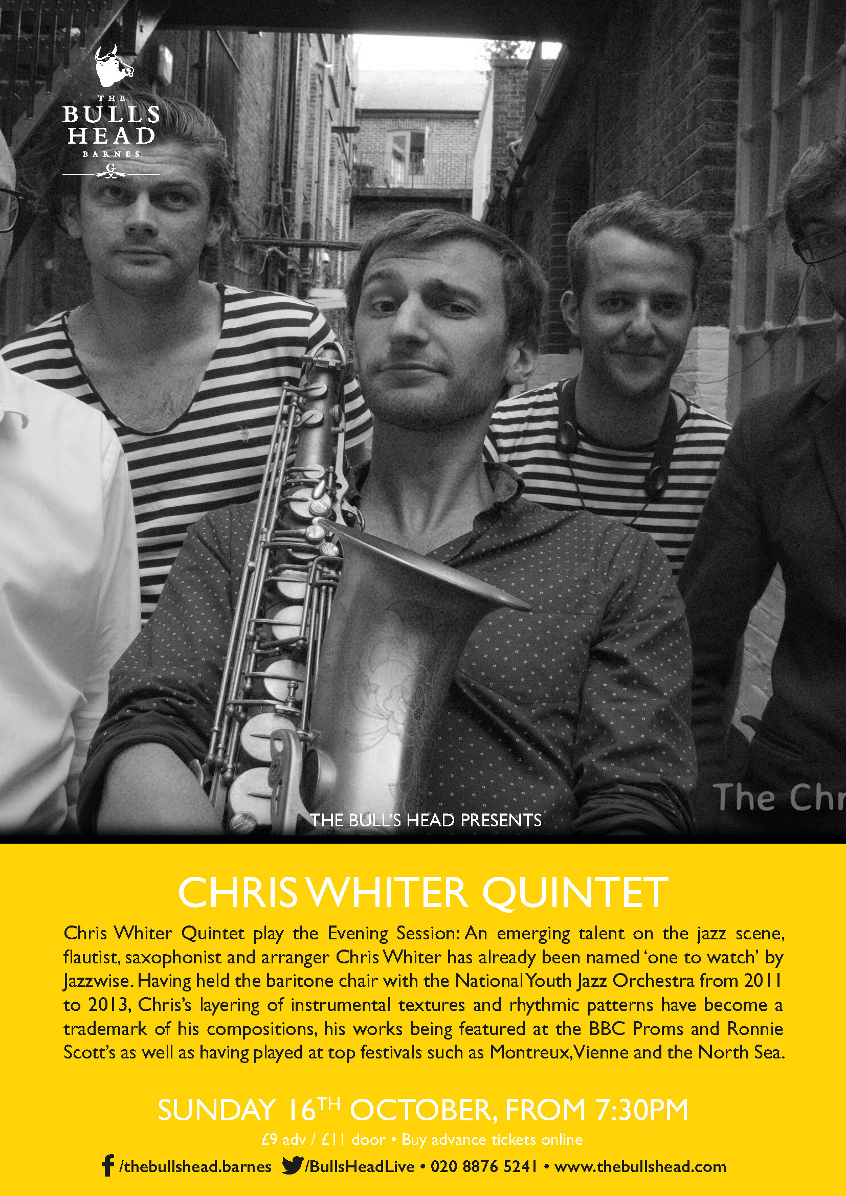 Chris Whiter Quintet play the Evening Session