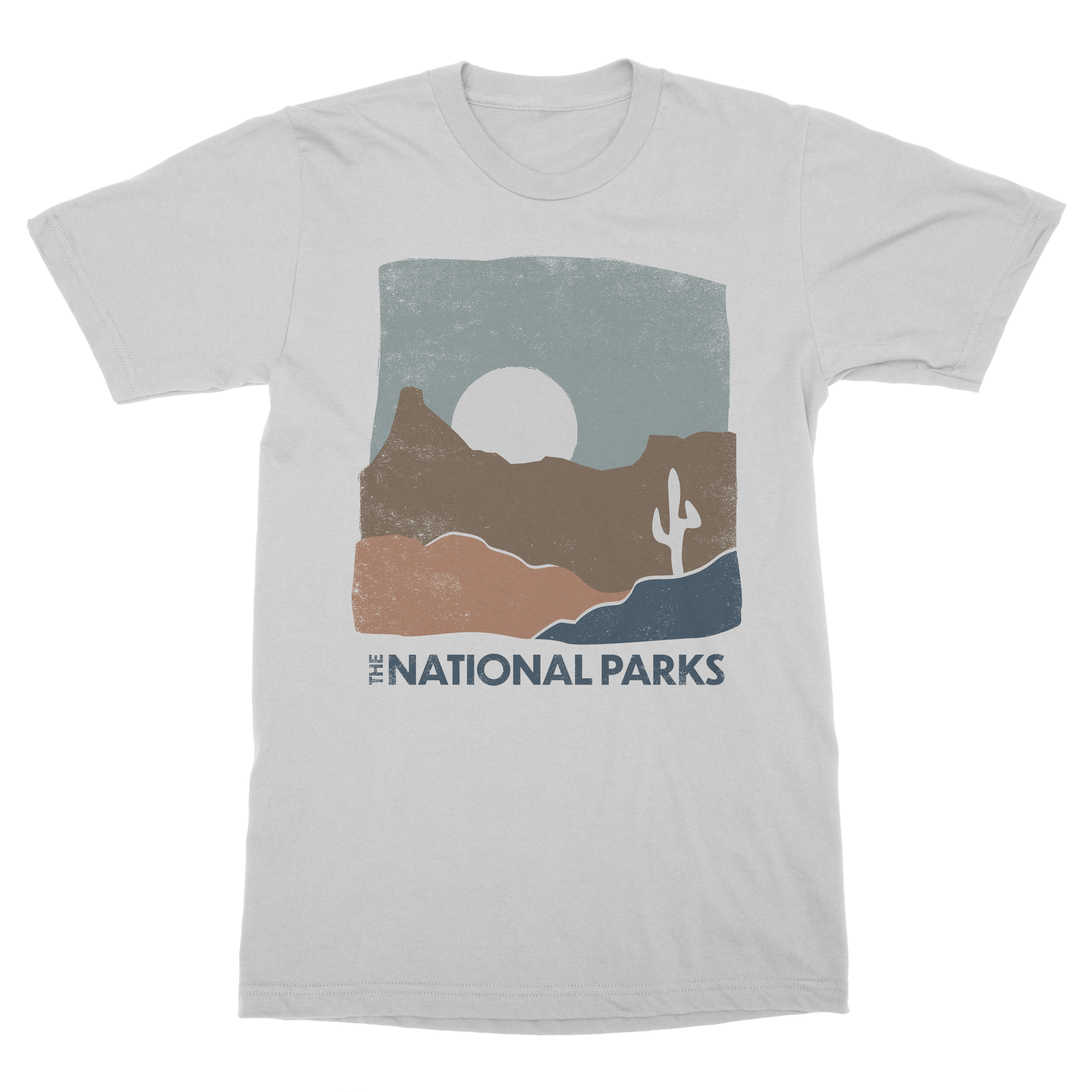 Desert- Grey Heathered Tee - The National Parks