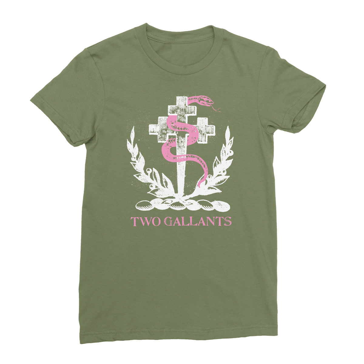 Crest Tee - Army Green - Two Gallants