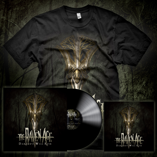 The Ultimate 'Darkness Will Rise' Pack - Darkness Will Rise - T-Shirt, CD & Vinyl - The Raven Age